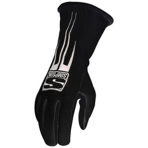 SIMPSON SAFETY Double Layer Medium Black Predator Driving Gloves P/N 20800MK