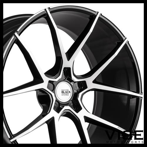 20 Savini Bm14 Machined Black Concave Wheels Rims Fits Benz W212