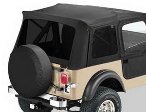 Bestop Replacement Window Set, Tinted - Jeep 1976-1995 CJ7; Wrangler