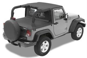 Bestop Header Bikini Top; Targa-style - Jeep 2007-2009 Wrangler 2DR