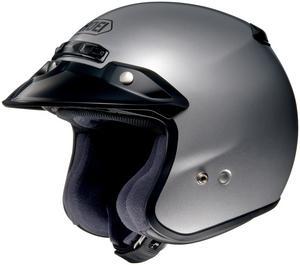 Shoei RJ-Platinum R Open Face Road Helmet Light Silver Adult Size XXL
