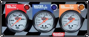 QUICKCAR RACING PRODUCTS White Face Gauge Panel Assembly P/N 61-6011