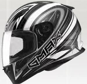 G-Max FF49 Warp Helmet Warp Flat Black/Silver (Silver, X-Small)