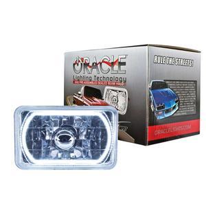 Oracle Lighting Tech White Halo LED Ring Sealed Beam Headlight P/N 6909-001