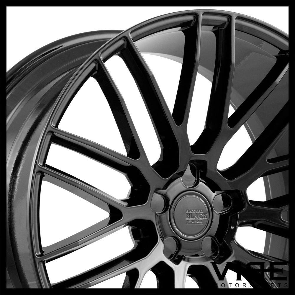"22"" SAVINI BM13 GLOSS BLACK CONCAVE WHEELS RIMS FITS BMW E71 E72 X6"