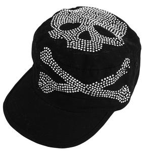Zan Headgear Highway Honeys Womens Cap Black Skull Studs (Black, OSFM)