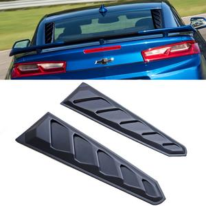2016-2018 Chevrolet Camaro Rear Window Quarter Louver Set - Unpainted Black