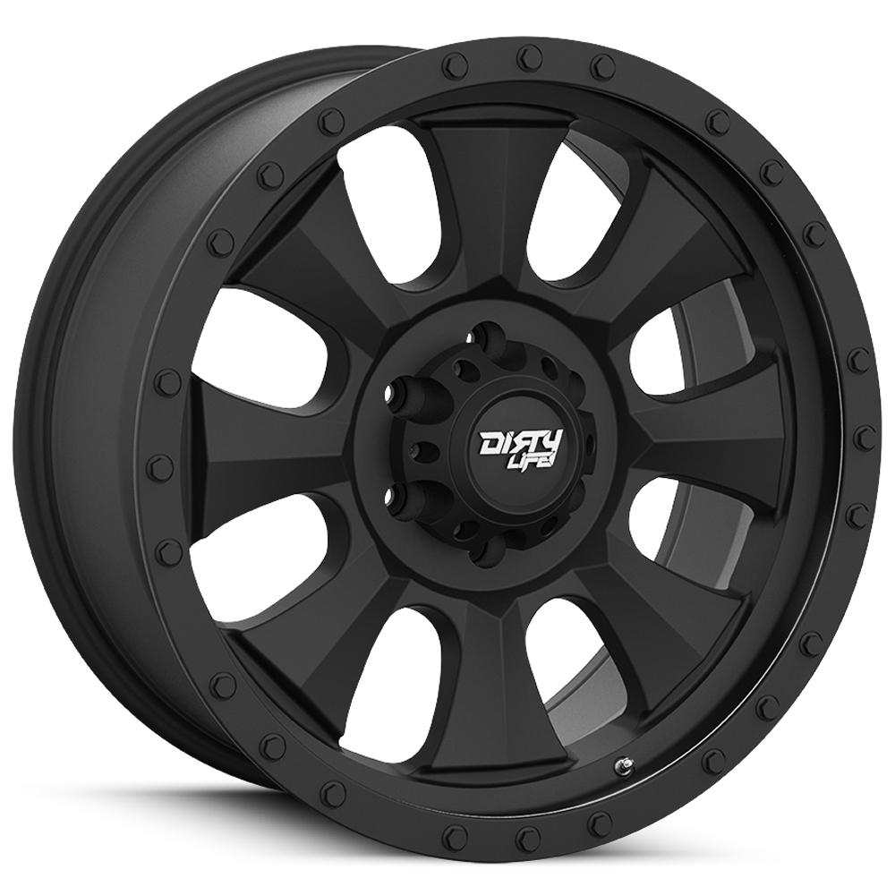 "4-Cali Off-Road 9300 Ironman 20x10 5x5"" -19mm Matte Black Wheels Rims 20"" Inch"