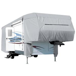 Waterproof Superior 5th Wheel Toy Hauler RV Motorhome Cover Fits Length 29'-33' New Fifth Wheel Travel Trailer Camper Zippered Panels Heavy Duty 4 Layer Fabric