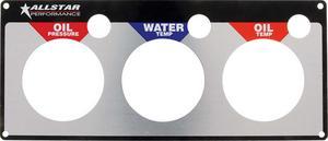 Allstar Performance Aluminum Gauge Panel Face Plate P/N 80126