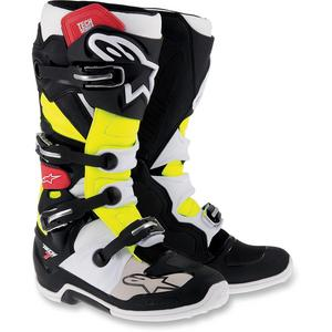 Alpinestars Tech 7 Boots Black/Red/Yellow (Black, 10)