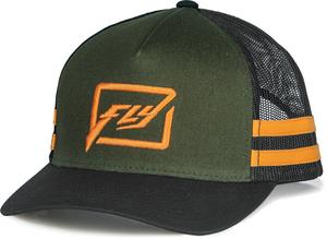 Fly Racing Huck It Youth Hat Army/Orange (Orange, OSFM)