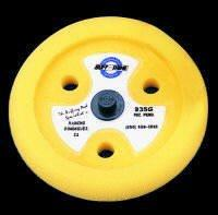 "Buff and Shine 9"" dia. X 1-1/2"" Yellow contoured foam grip pad with centering"