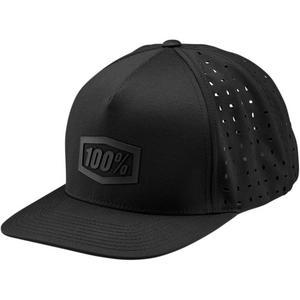 100% Snapback Hat (Black, OSFM)