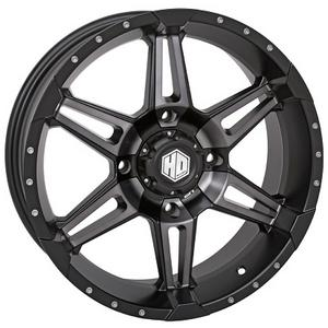 STI ATV UTV HD7 Matte Black/Smoke Front OR Rear Wheel 14x7 4/110 5+2