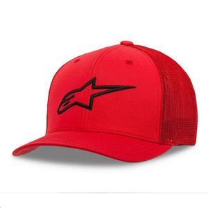 Alpinestars Ageless Stretch Mesh Hat Red/Black (Red, Large - X-Large)