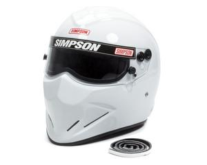 SIMPSON SAFETY Size 7-3/4 White Diamondback Helmet P/N 6297341