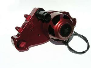 MEZIERE Red Aluminum Street Style Electric Water Pump Kit GM LS P/N WP319R