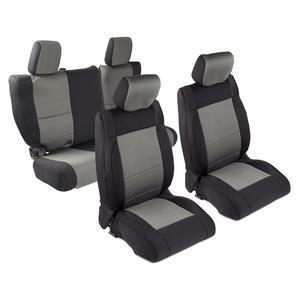 Smittybilt 471722 Neoprene Seat Cover 08-12 Wrangler JK Blk/Charcoal Front/Rear