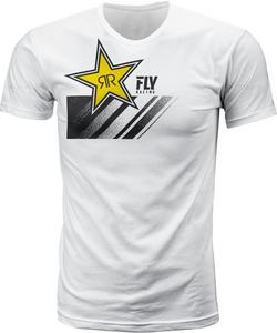 Fly Racing Rockstar T-Shirt (White, Small)