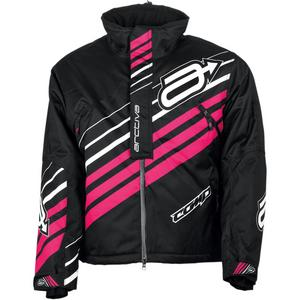 Arctiva Comp Insulated Womens Jacket Black/Pink (Black, Small)