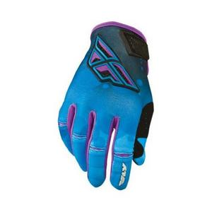 Fly Racing Kinetic Womens Gloves (2014) Blue/Purple (Blue, XX-Large)