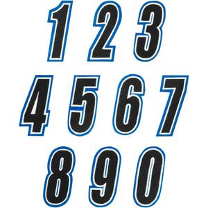 American Kargo 3550-0237 Number Patch - #0 - Blue/Black