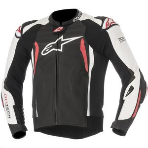 Alpinestars GP Tech V2 Leather Jacket Black/White/Red (Black, 38)
