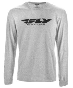 Fly Racing Corporate LS T-Shirt (Gray, Small)