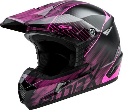 G-Max MX46 Colfax Youth Helmet Black/Hi-Viz Pink (Black, Large)