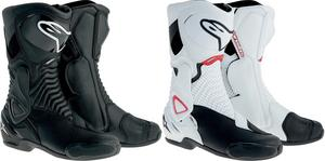 Alpinestars S-MX 6 Vented Street Riding Motorcycle Boots Black Mens Size 3.5