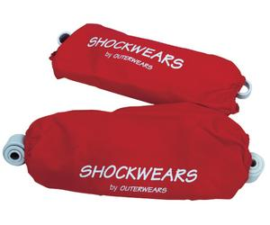 Outerwears 30-1547-03 Shockwears Shock Cover - Rear/Red