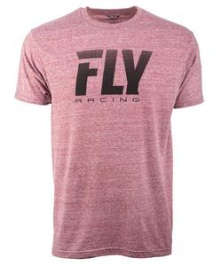 Fly Racing Logo Fade T-Shirt Onyx (Red, X-Large)