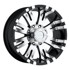 Pro Comp Alloy 8101-7883 Xtreme Alloys Series 8101 Gloss Black w/Machined Finish
