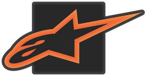 "Alpinestars 2"" Tow Hitch Black/Orange 1037-94000-1040"