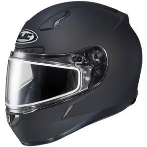 HJC CL-17 Solid Snow Helmet with Dual Lens Shield Matte Black (Black, X-Large)