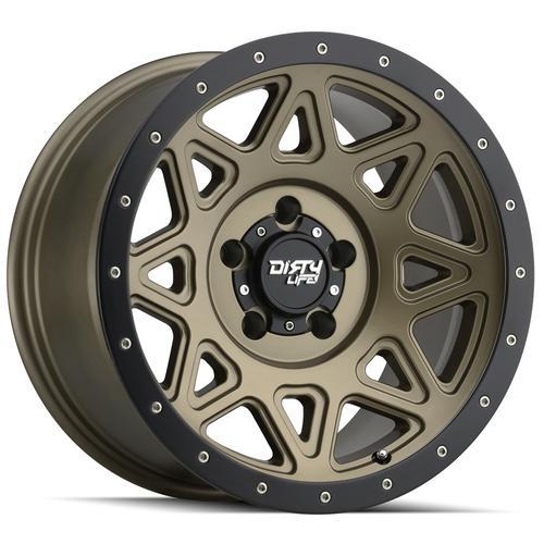 "4-Dirty Life 9305 Theory 18x9 8x6.5"" +0mm Gold/Black Wheels Rims 18"" Inch"