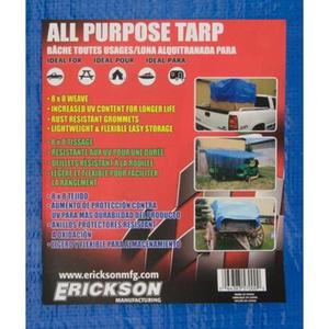 Kotap America TRA1620 Blue Poly Rip-Stop Tarp - Cut Size: 16x20ft.