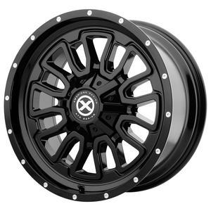 "ATX Series AX203 16x8 5x5""/5x5.5"" -6mm Gloss Black Wheel Rim 16"" Inch"