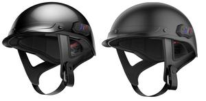 Sena Adult Cavalry Bluetooth Motorcycle Half Helmet Matte Black S