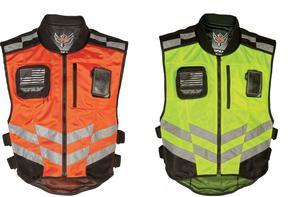 Fly Street Motorcycle Fast Pass Safety Vest Orange Mil Spec S-L