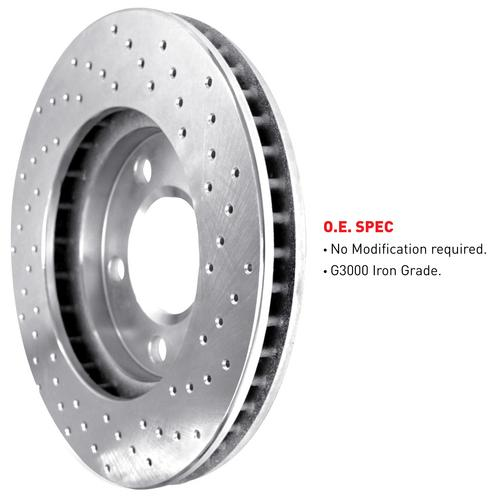 [REAR] eLine Cross-Drilled Brake Rotors & Semi-Met Brake Pads REX.4301202