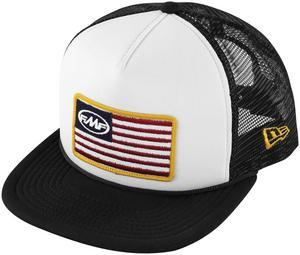 FMF Racing Stars and Bars Snapback Hat (White, OSFM)