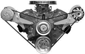 ALAN GROVE COMPONENTS BBC Head Mount Low Profile Alternator Bracket Kit P/N 218L