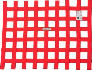 RACEQUIP 18 x 24 in Rectangle Red Window Net P/N 725015