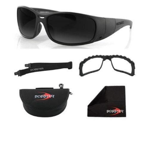 Bobster Eyewear Ambush Convertible Sunglasses Black / Smoke Lens (Black, OSFM)