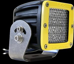 Rigid Industries 23152 D-Series; Dually HD; 60 Deg. Diffusion LED Light; Amber;