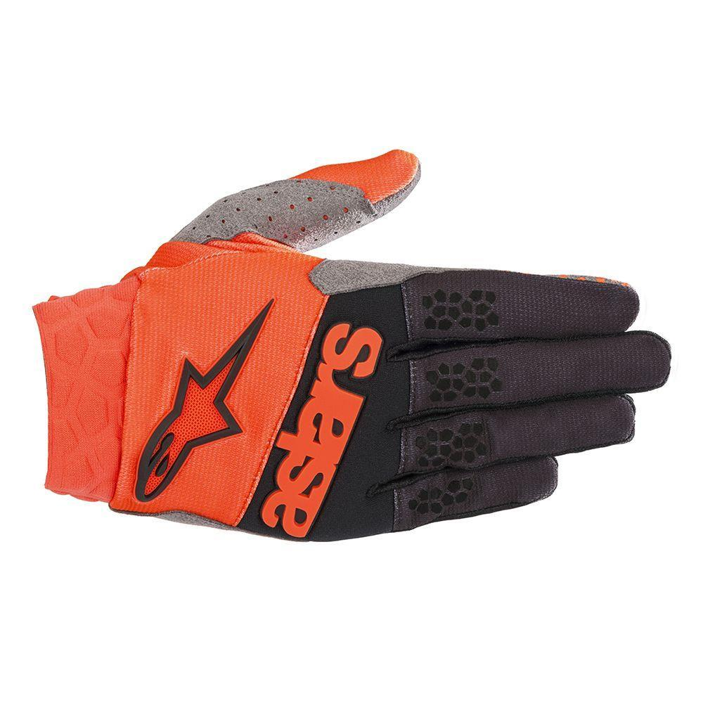 Alpinestars Racefend Gloves Black/Orange Fluorescent (Orange, X-Large)