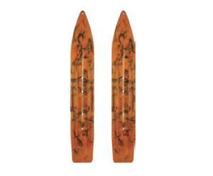 Slydog 04-50104 Attack Skis - Swirl Black/Orange