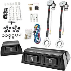 Biltek FULL COMPLETE CAR TRUCK 2 WINDOW AUTOMATIC POWER KIT WITH 3 SWITCHES KIT